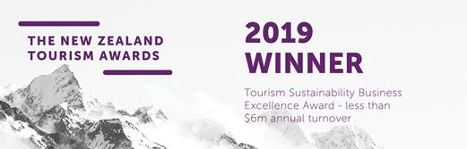 New Zeakand Tourism Awards 2019 Winner